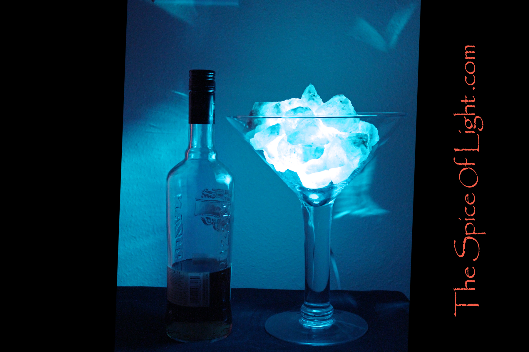 Salt Lamps Blue : Oversized Decorative Blue Martini Glass, Himalayan salt lamp The Spice of Light