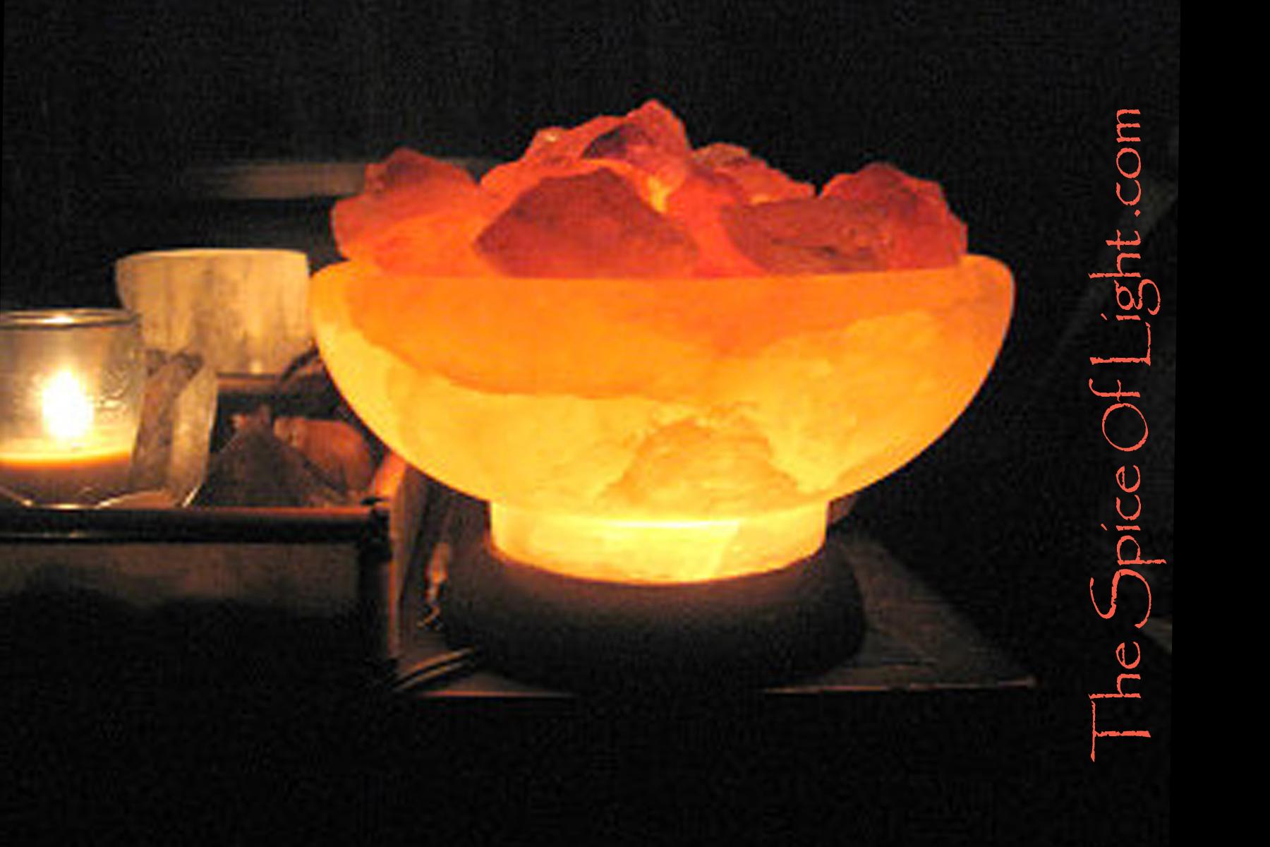 Salt Lamp Fire Pit : Burning Bowl , Himalayan salt lamp The Spice of Light