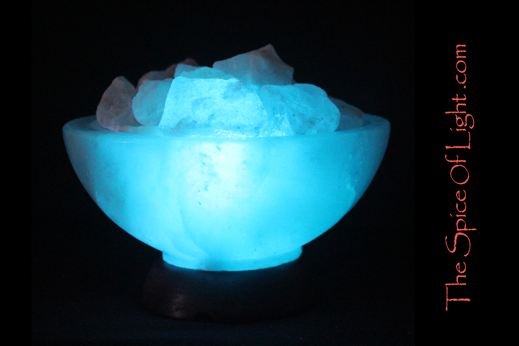 Salt Lamps Blue : LIMITED EDITION Glacier Bowl , blue lamp salt sculpture The Spice of Light