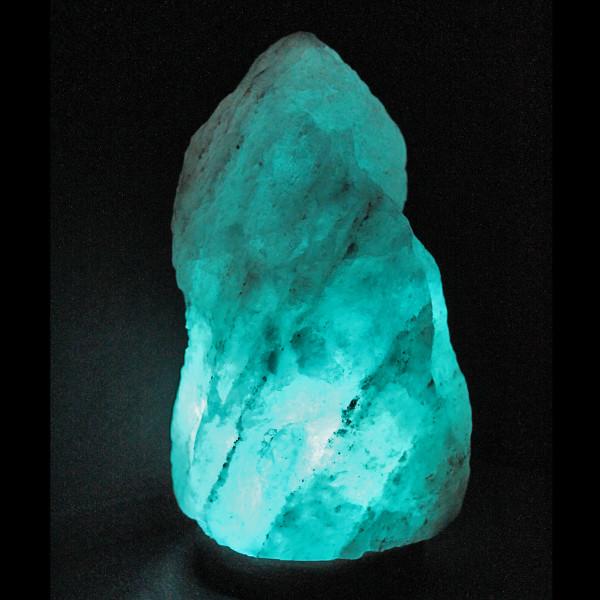 SALE! Large Natural Glacier Crystal™, blue Himalayan salt lamp ...