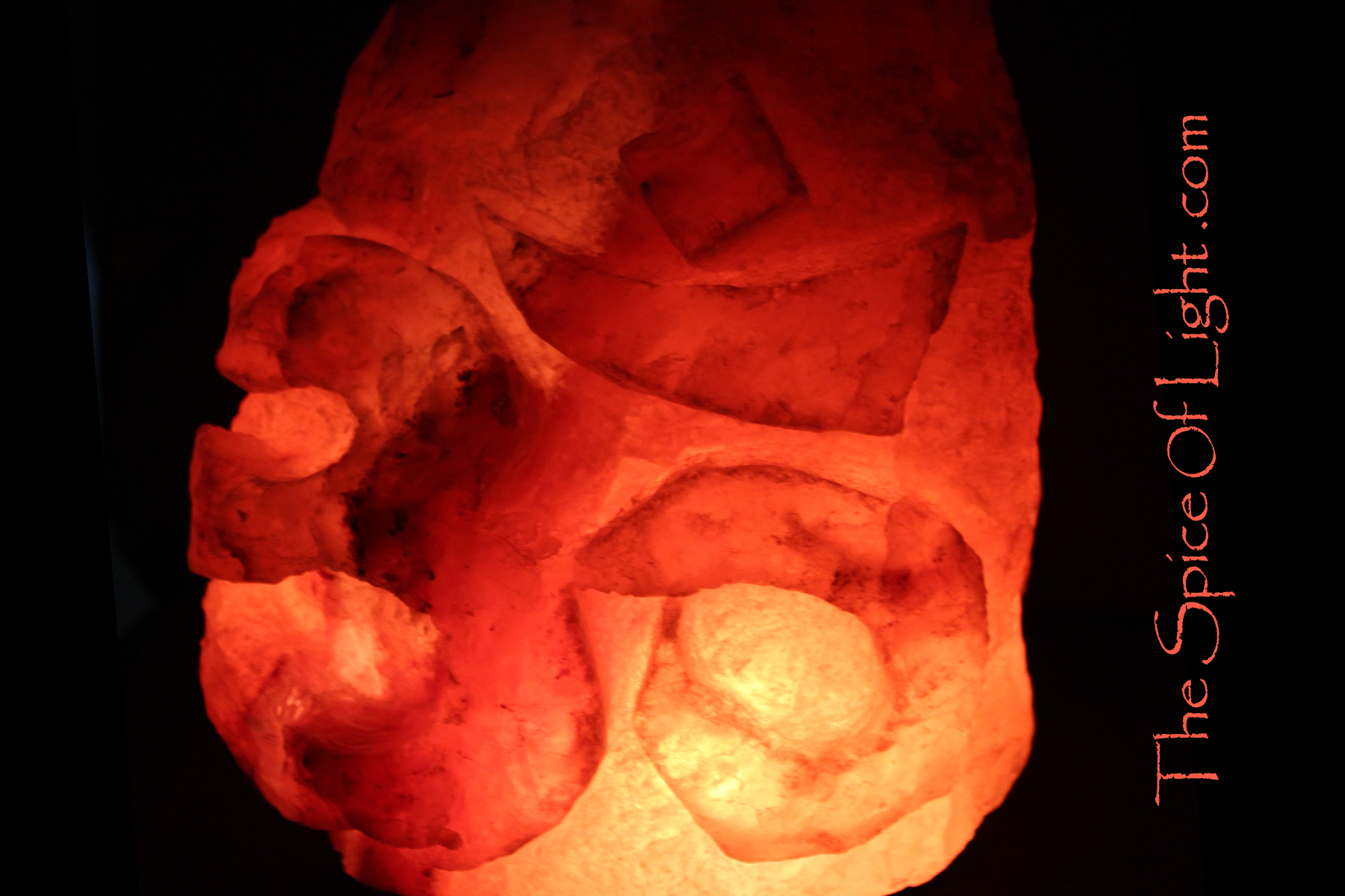 Himalayan Salt Lamps Meaning : Om or Aum Symbol, 30 lb Himalayan salt sculpture The Spice of Light