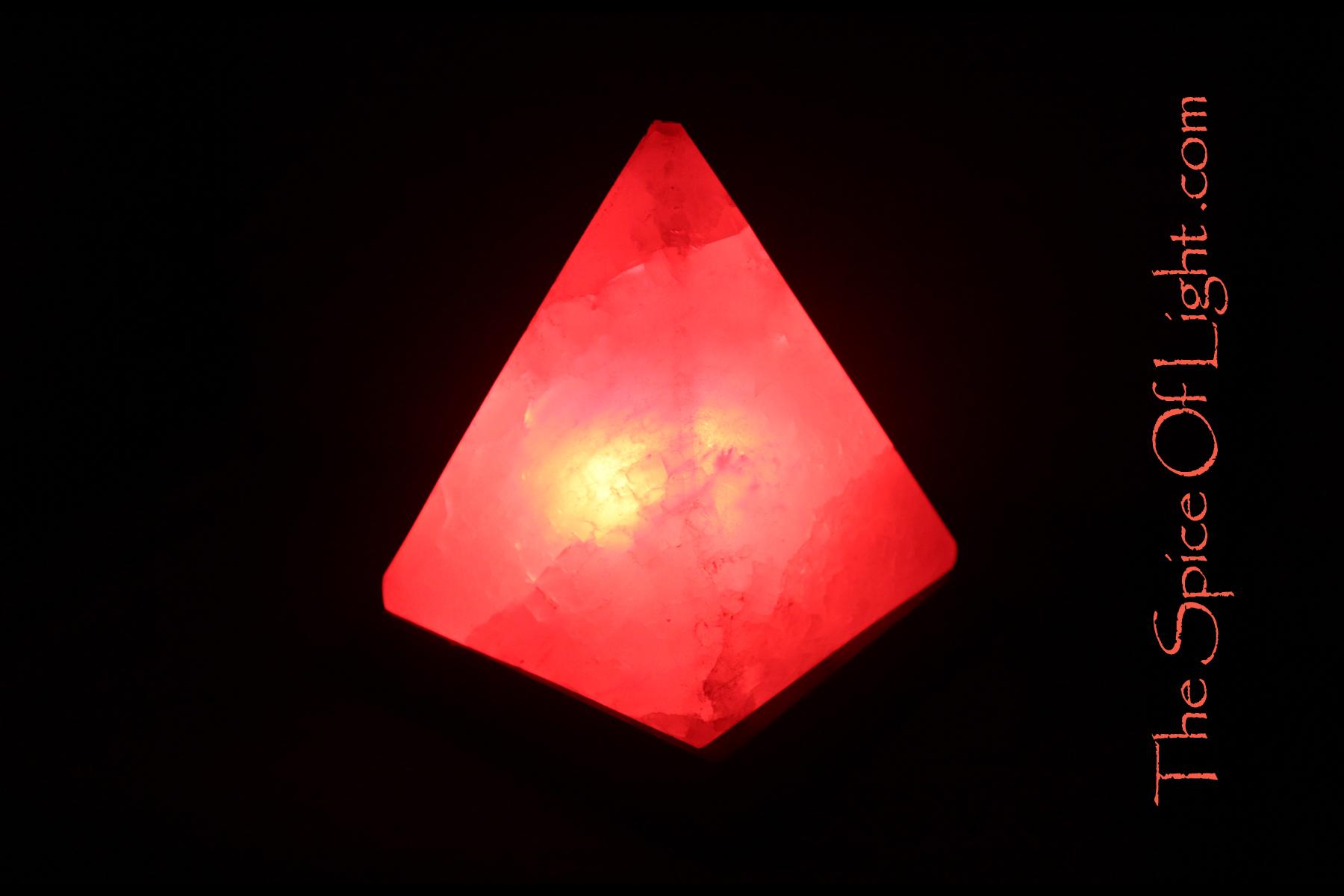 Red Pyramid Himalayan Salt Lamp