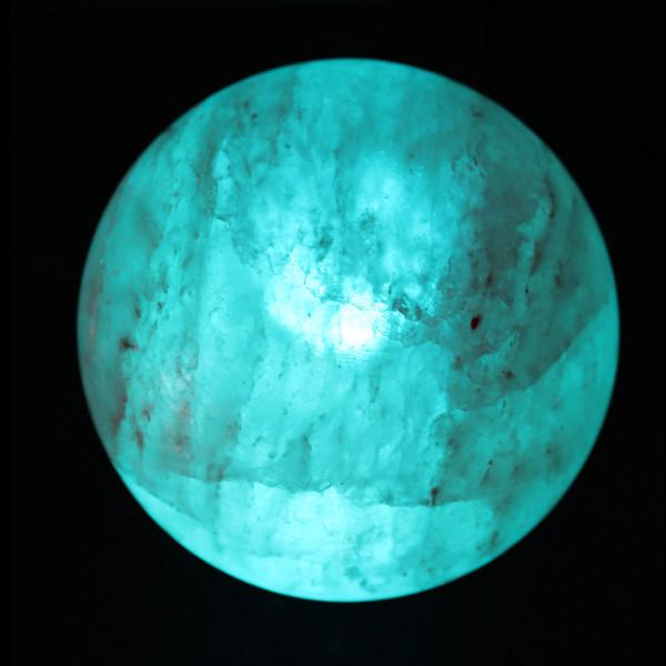 Himalayan Salt Lamps Blue : Neptune Salt Sphere Himalayan salt lamp, blue planet or globe sculpture The Spice of Light