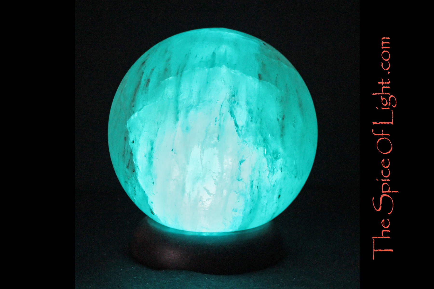 Salt Lamps Blue : Neptune Salt Sphere Himalayan salt lamp, blue planet or globe sculpture The Spice of Light