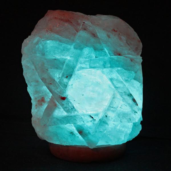 Star Of David Himalayan Salt Lamps Salt Sculpture